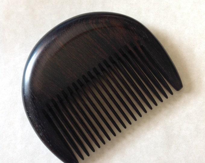 Featured listing image: Organic Ebony Wood Beard Comb UB's Beard Basics Antistatic Sturdy Rare Exotic Hard Wood Durable Comb