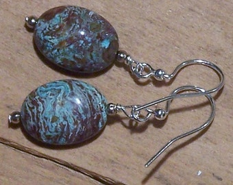 Cool Imperial Turquoise Dangle Earrings