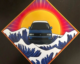 "8"" x 8"" Vanagon Westfalia High Gloss Print"