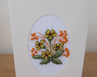 Cross Stitch Card with bead detail