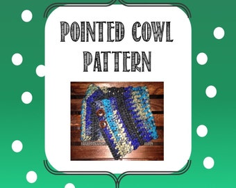 Pointed Cowl Pattern