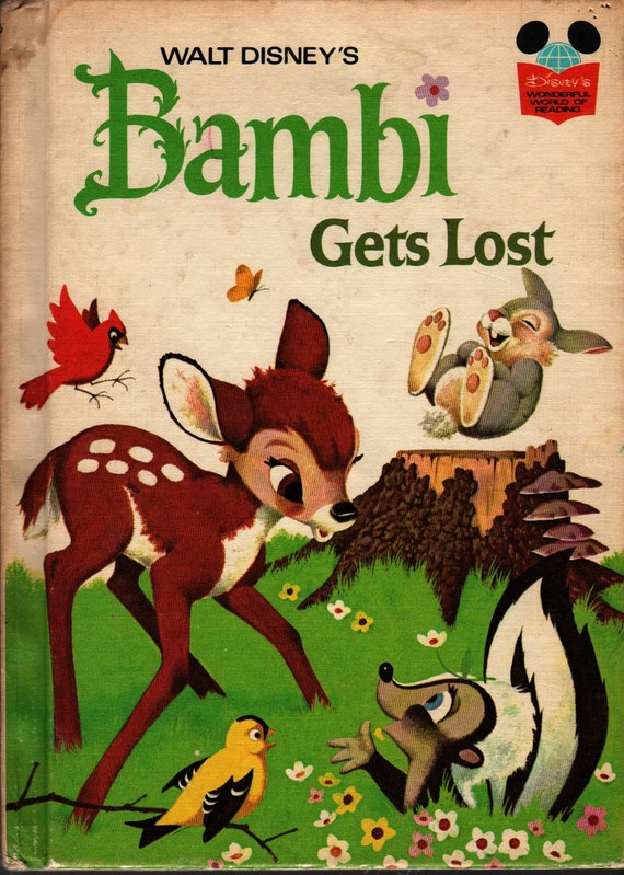 Walt Disney's Bambi Gets Lost  + Albert G Miller + Disney Studios + 1972 + Vintage Kids Book