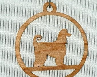 Afghan, Akita/Husky, Basset Hound, Beagle, Boxer wooden ornaments / window hangers