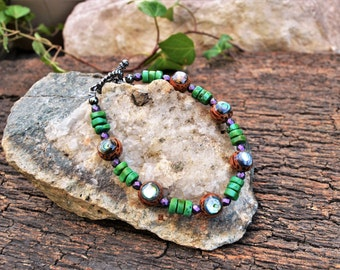 Abalone Shell Bracelet, Handmade Shell Jewelry, Natural Jewelry, Gift Ideas for Her from The Hidden Meadow