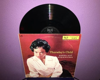 Eartha Kitt - Thursday's Child Vinyl LP 1956 Catwoman Chanteuse Record Album