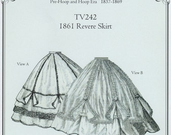 TV242 - Truly Victorian #242, 1861 Revere Skirt Sewing Pattern
