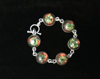 Sweet Silver Vintage Mexican flower Bracelet
