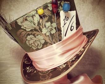 Mad Hatter hat, Steampunk hat, Full Size Top Hat, Top Hat, Custom Top Hat, Alice in Wonderland, Cosplay hat, Steampunk Wedding, Festival Hat