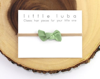 baby knot headband, baby headband, bow headband, newborn headband, baby bow headband, Top Knot Headband, Baby Headbands . GREEN Mini Knot