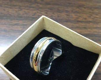 Mens Ring Stainless Steel Wedding Occasional