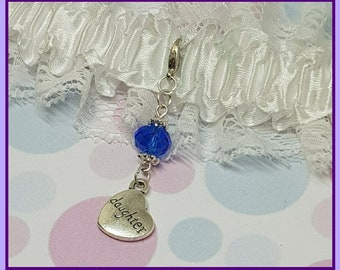 Something Blue Daughter Gift, Bridal Bouquet Charm, Heart Charm Wedding Bouquet, Something New Gift For Daughter, Bride Gift Wedding Shower