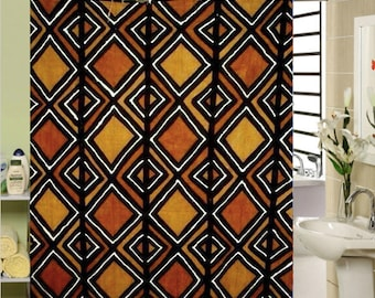 Shower curtain African ' touch