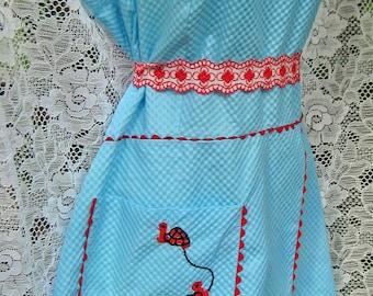Larger GOGO MINI dress vintage, Nautical Turtles SAILOR dress, Rare Aqua blue 60s Go Go Dress, Summer Dress, Sundress Turtle Sun Dress