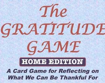 Gratitude Game, Printable Thanksgiving Card Game, Thankfulness Reflection Exercise, Home Edition
