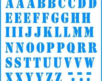Iron-on stencil alphabet all colours