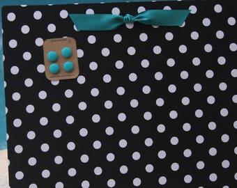 """Magnetic Board (24"""" x 18"""") Fabric magnet board -Bulletin board, Magnet Board,  Kids art, Girls room wall decor, Message board, Memo Board"""