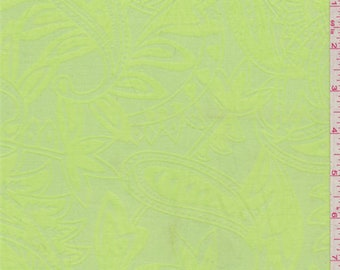 Citrus Green Lawn Burnout, Fabric By The Yard
