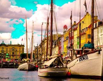 Historic Copenhagen: 5x7 digital matted image