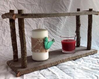 Rustic Primitive Farmhouse Handmade Curio Shelf