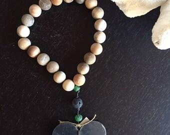 Small wooden heart rosary
