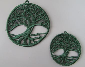 Embroidered Tree of Life Lace Applique available in 2 sizes