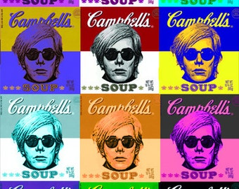 Homage to Andy Warhol Poster - Warhol Soup Can Poster