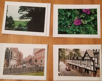 4 Photo Note Cards with Envelopes