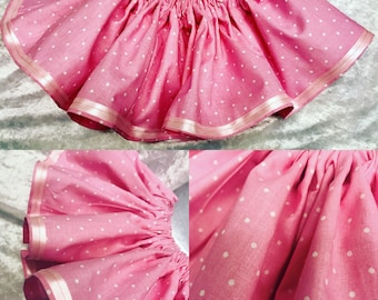 Pink Polka Dot Baby Girl Twirl Skirt