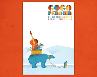 Gogo Penguin   A3 Digital Print