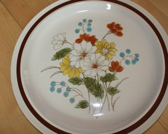 Vintage Four Seasons Floral Dinner Plate EARLY SUMMER Stoneware Japan
