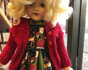 """Cute Hand Knitted Sweater to fit 20"""" Toni Doll American Girl Doll Choice of Several"""