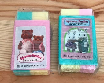 Vintage 1987 Sylvanian Families Made in Japan set of 2
