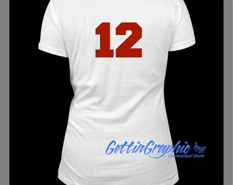 Add a number to back of shirt