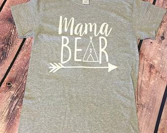 Mama Bear Shirt, Momma Bear, New Mom Gift, Baby Bear, Mama Bear Gift