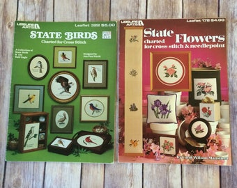 State Birds Flowers Charted for Cross Stitch Two Leaflets Also Bald Eagle Patterns Designs Jon-Paul Patrik Carol Wilson Mansfield