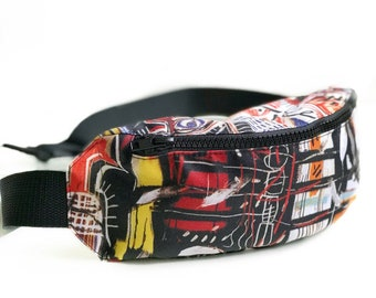 Hip bag Fanny pack with high quality full print Basquiat gift for her gift ideas Bumbag Zipperbag