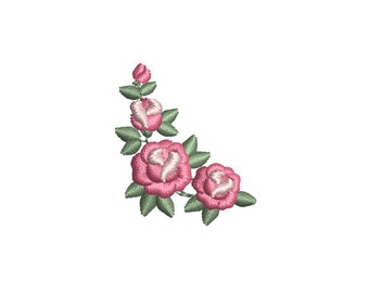 Mini Roses Machine Embroidery Design. 3 sizes. Instant download