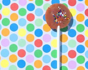 Chocolate Birthday Cake Lollipops