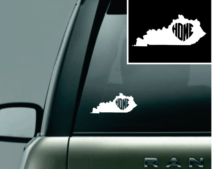 Kentucky Love Your State Car Decal