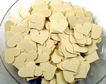 Funfetti Paper Confetti  Die Cut  Hearts in Sweet Cream