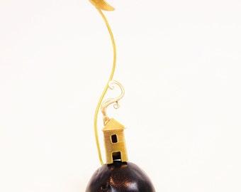 Metal miniature . Greek island. Made to order. Gift ideas. Summer decoration