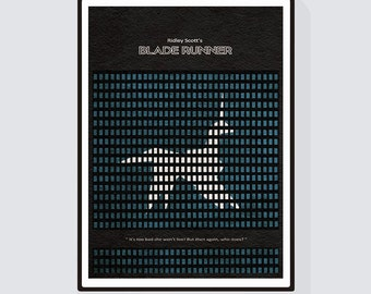 Blade Runner - 2 Minimalist Alternative Movie Print & Poster