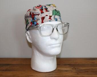 Men's Superhero Comic Surgical Scrub Hat
