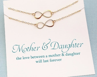 Gifts for Mom | Infinity Necklace Mother Daughter Jewelry Set, Mother Daugther Gift Set, Mommy and Me Mothers Day Gift, Mom Gift | MD01