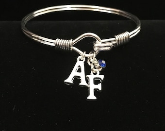 """AF """"Spirit"""" silver tone bangle bracelet"""