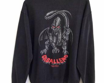 Vintage Powell Peralta Steve Caballero Skateboard Bones Brigade Skate Punk Rock Sweatshirt