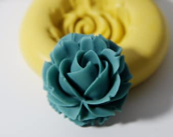 0025-Large Rose Cabachon Silicone Rubber Flexible Mold-crafts, jewelry, resin, soap, wax, scrapbooking