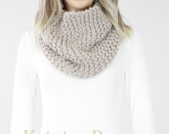 Scarf PATTERN - Seattle Cowl Pattern #14 - Knit Scarf Pattern - Instant Download PDF- Knitting PATTERN - Two Sizes