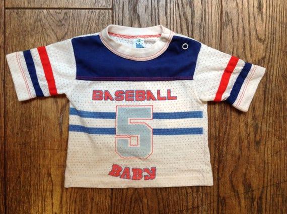 Vintage kids baby American baseball football mesh tshirt 12 months 1 year toddler sportswear
