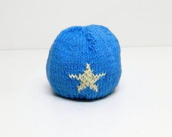 Blue wool, knitted hat, Boys knit hat, Boy hats, handmade hats, enfant Chapeau, woollen head wear, hand made, head gear, childrens gifts,
